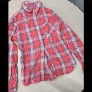 Forever 21 plaid button down shirt Sz S